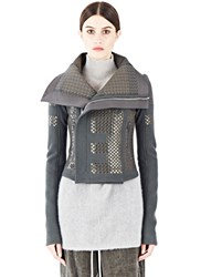 Rick Owens Sphinx Embroidered Sequin Jacket Grey