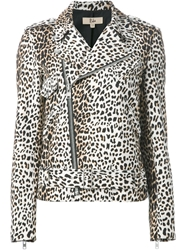 Rika 'Irena' Leopard Print Jacket Nude And Neutrals
