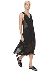 Damir Doma Techno Satin And Georgette Dress