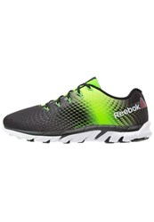 Reebok Zstrike Elite Cushioned Running Shoes Black Solar Green Bright Green