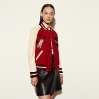 Coach Classic Varsity Jacket Red