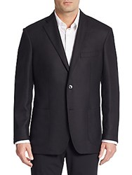 Ike Behar Wool And Cashmere Blazer Black Charcoal