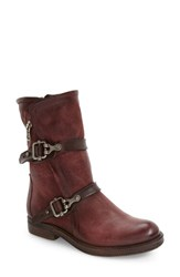 A.S.98 Women's Vega Buckle Strap Boot Wine
