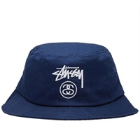Stussy Stock Lock Bucket Hat Blue