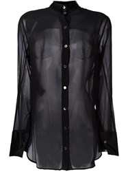 Ann Demeulemeester Semi Sheer Shirt Black