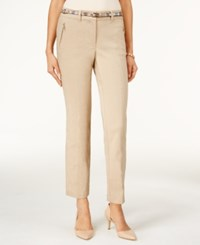 Jm Collection Cropped Belted Pants Only At Macy's Meadow Trail