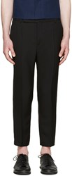 Haider Ackermann Black Wool Cropped Trousers