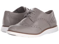 Cole Haan Original Grand Wingtip Ironstone Optic White Women's Lace Up Wing Tip Shoes Beige