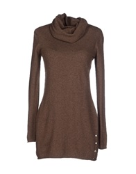 Stefanel Turtlenecks Brown