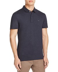 Michael Kors Heathered Slim Fit Polo Shirt Midnight