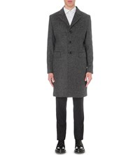 J. Lindeberg Wolger Wool Blend Coat Black Grey