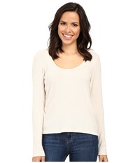 Project Social T Fuzzy Rib Deep Scoop Ivory Women's Clothing White