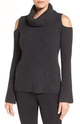 Tahari Women's Elie 'Torrence' Cold Shoulder Cashmere Cowl Neck Sweater