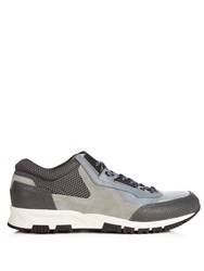 Lanvin Running Contrast Panelled Low Top Trainers Grey Multi