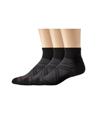 Smartwool Phd Run Elite Mini 3 Pair Pack Black Men's Low Cut Socks Shoes