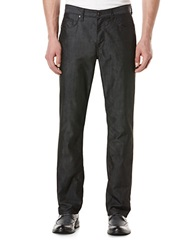 Perry Ellis Slim Fit Textured Denim Pants Dark Shadow