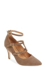 Corso Como Women's 'Carter' Tiered Ankle Strap Pump Medium Brown Nubuck Leather