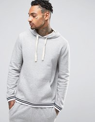 Asos Loungewear Hoodie With Striped Cuffs Gray