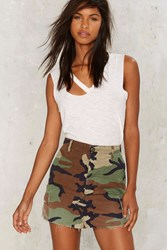 After Party By Nasty Gal Vintage In The Trenches Camo Mini Skirt Army