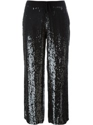 P.A.R.O.S.H. Sequin Embellished Pants Black