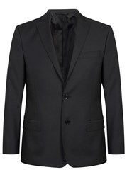 J. Lindeberg Hopper Black Wool Jacket Charcoal
