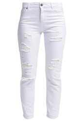 Miss Selfridge Esther Slim Fit Jeans White
