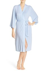 Nordstrom Women's 'Moonlight' Jersey Robe Blue Cashmere Pretty Dot