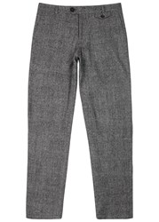 Oliver Spencer Fishtail Grey Wool Trousers