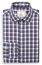 Todd Snyder Trim Fit Check Dress Shirt Siberian Purple