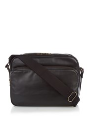 Tomas Maier Leather Messenger Bag