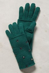 Anthropologie Gleaming Luray Gloves Green