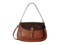Calvin Klein Corinna Jetlink Tuled Hobo Luggage Hobo Handbags Brown