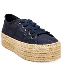Steve Madden Women's Hampton Flatform Espadrille Sneakers Women's Shoes Navy
