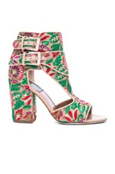 Laurence Dacade Bohemian Rush Embroidered Heels In Neutrals Metallics Floral Green