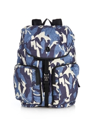 Moncler Camo Print Quilted Nylon Backpack