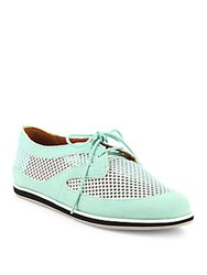 Rebecca Minkoff Sylvie Uede And Mesh Oxfords Winter Mint