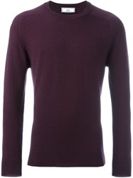 Ami Alexandre Mattiussi Crew Neck Sweater Pink And Purple