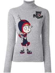 Love Moschino 'Space Girl' Pullover Grey