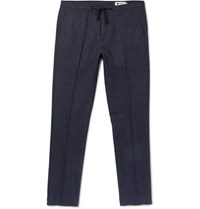 Nn.07 Nn07 Copenhagen Slim Fit Drawstring Woven Trousers Navy