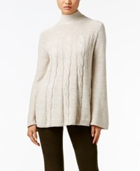 Styleandco. Style Co. Petite Mock Neck Cable Knit Swing Sweater Only At Macy's Neutral Combo