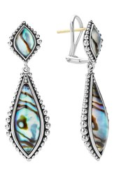 Women's Lagos 'Contessa' Semiprecious Double Drop Earrings Abalone