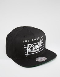 Mitchell And Ness Snapback Cap Cursive Script La Kings Black