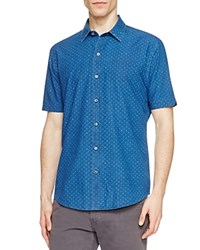 Zachary Prell Fernandes Slim Fit Button Down Shirt Blue