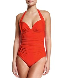 Jets By Jessika Allen 50S Gathered One Piece Swimsuit