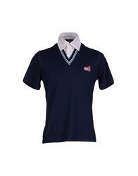 Mas_Q Topwear Polo Shirts Men Dark Blue
