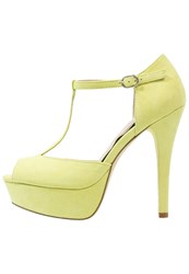 Evenandodd Peeptoe Heels Lime Yellow