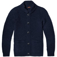 Barena Ceston High Neck Cardigan Navy