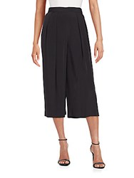 1.State Pleated Crepe Culottes Rich Black