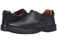 Clarks Untilary Easy Black Leather Men's Slip On Shoes