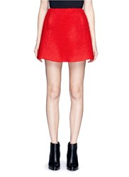 Chictopia Brushed Wool Blend Skirt Red